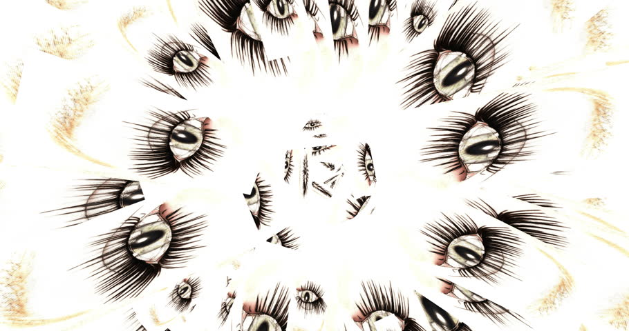 Digital Animation of kaleidoscopic Eyes