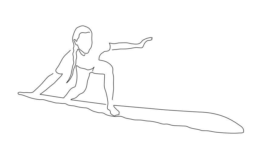 Surfer line drawing, vector illustration design. Outdoor sports collection. | Shutterstock HD Video #1012640087