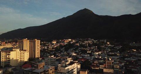 Nice sunshine in Caracas, Venezuela, El Avila