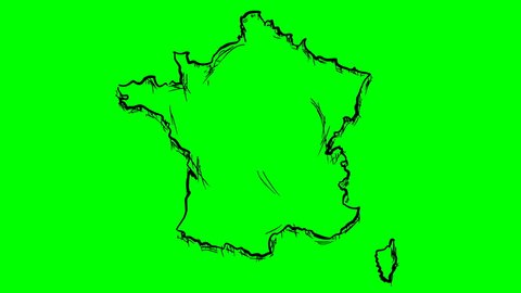 How To Draw A Map Of France.France Map Draw Stock Video Footage 4k And Hd Video Clips