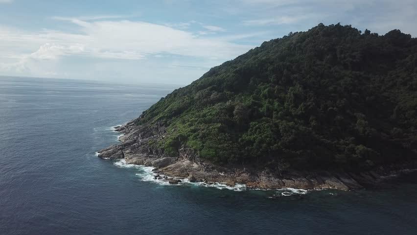 Koh Tachai Similan Island Thailand aerial footage  | Shutterstock HD Video #1012655837