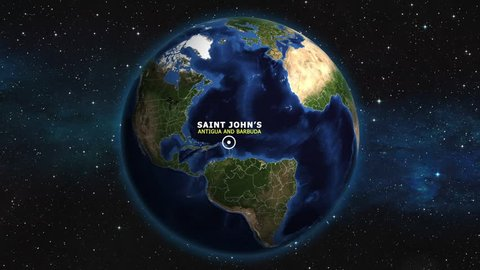 ANGUILLA SAINT JOHN'S ZOOM IN FROM SPACE