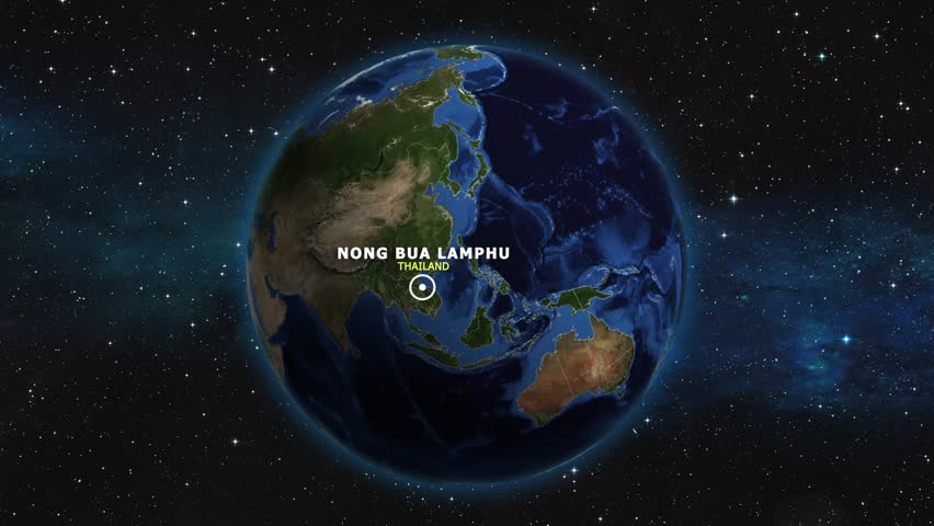 THAILAND NONG BUA LAMPHU ZOOM IN FROM SPACE | Shutterstock HD Video #1012727417