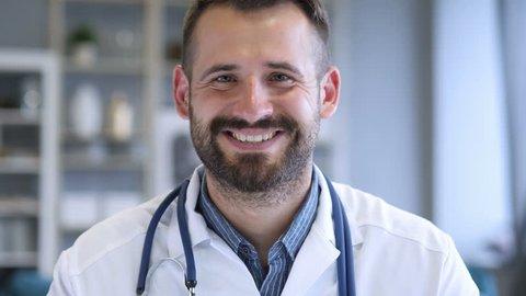 Portrait of Smiling Confident Doctor