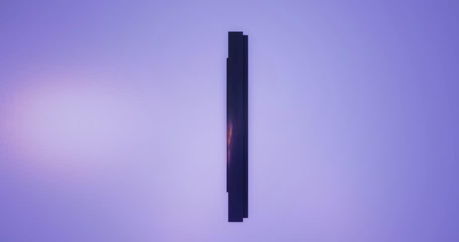 3D rendering black Alphabet split moving on blue background,Letter l lowercase | Shutterstock HD Video #1012805687