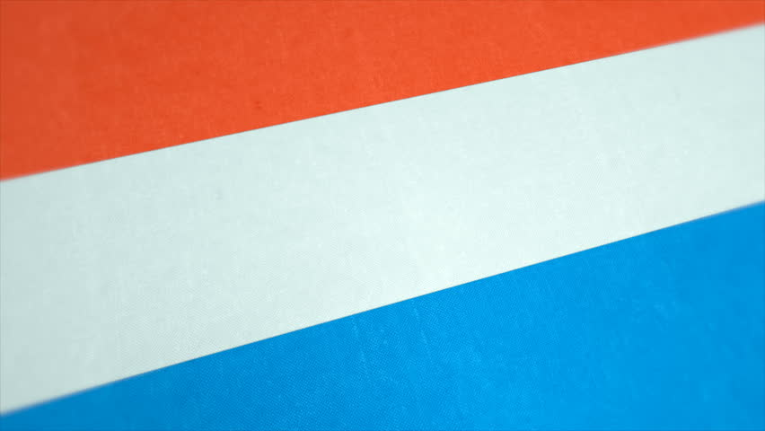 Stockfootage of National Flag of Netherlands - Animated Dutch Country Flag - Windy Flag Motion Background