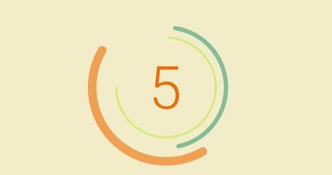 Modern Countdown (10 seconds). Rotating circles.