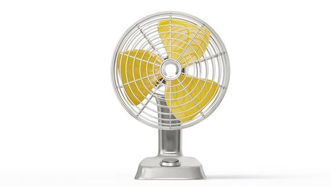electric fan isolated on a white. 3d animation