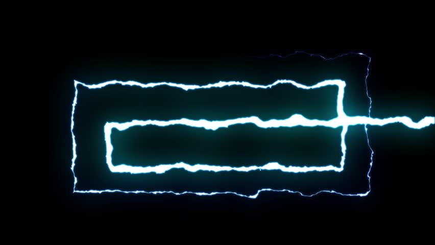 Loopable BLUE neon Lightning bolt SPIRAL shape flight on black background animation new quality unique nature light effect video footage | Shutterstock HD Video #1012962047