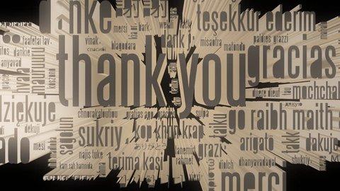 3D Thank You - Transparent Alpha Animation