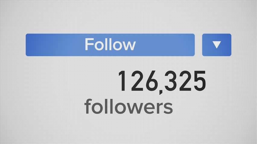 A closeup video meter of an influencer's social media number increasing to 1 billion followers. flat version.   | Shutterstock HD Video #1013018537