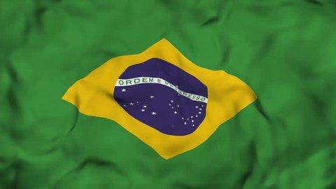 Waving Brazilian Flag Background