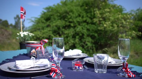 Norwegian Constitution Day table decoration