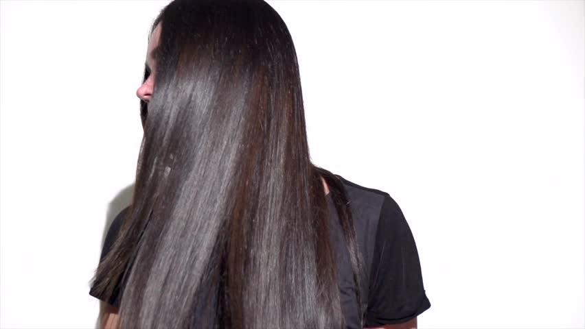 Beautiful Long Hair Beauty Woman Stock Footage Video 100