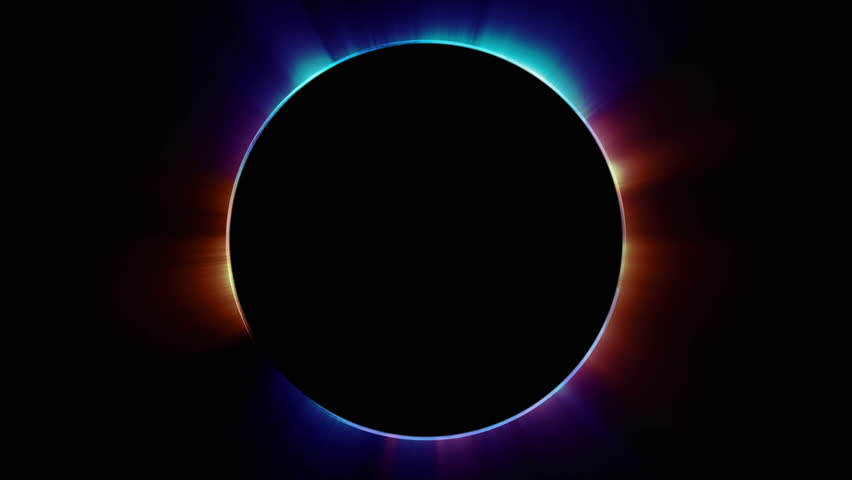 Beautiful cg animation of abstract multicolored eclipse. Seamless loop motion graphics background in 4K. | Shutterstock HD Video #1013182757