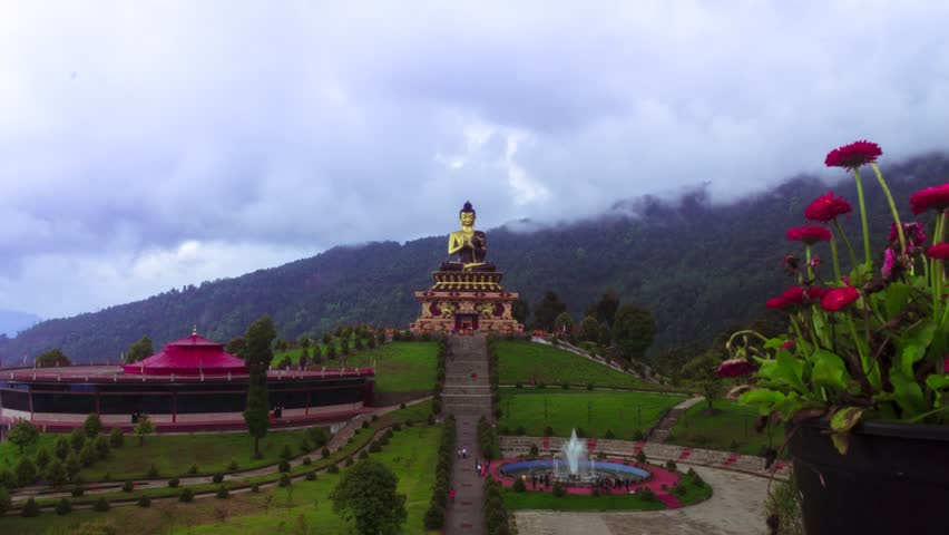Time lapse of Buddha Park, Sikkim 1080p 60FPS