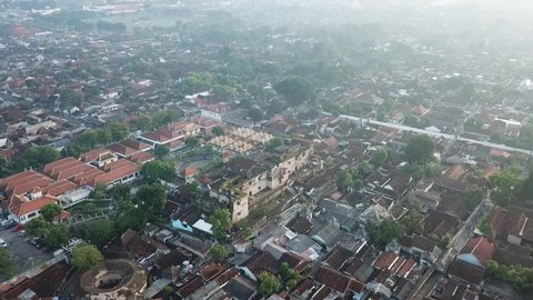 Pulo Cemeti, Sumur Gemuling and Ngasem market on record using the drones