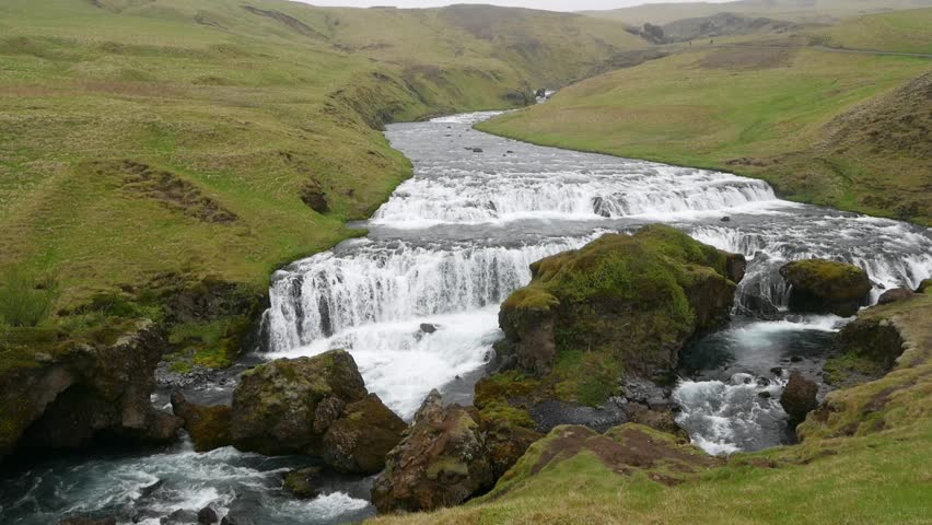 Skogafoss waterfall Skogar Iceland | Shutterstock HD Video #1013269637