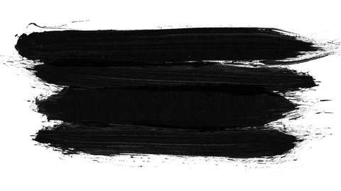 Brush stroke black and white transition background. Animation of paint splash in 4K. Digital on-screen graphic footage. Abstract background for ad and presentations.