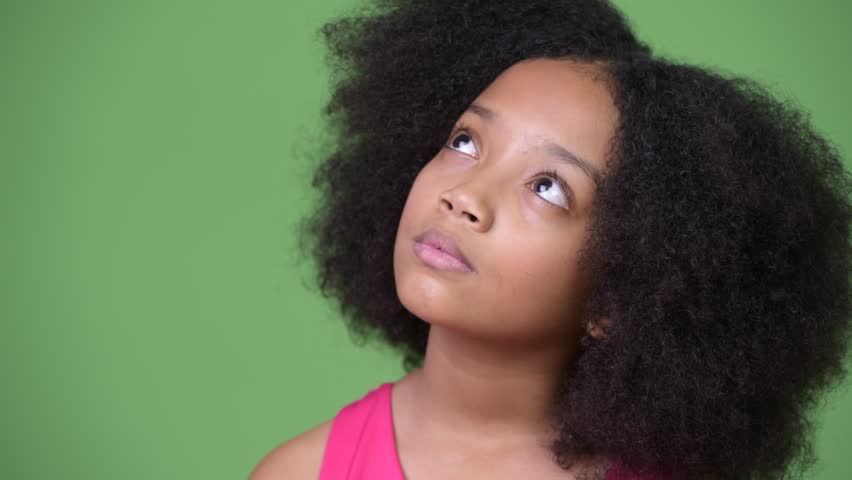 Young Cute African Girl With Stock Footage Video 100 Royalty Free 1013381477 Shutterstock