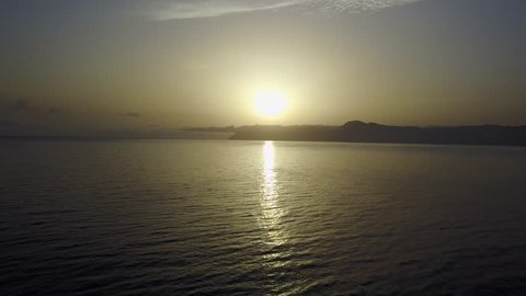 Drone Beach Sunset