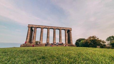Timelapse of Calton Hill, Edinburgh