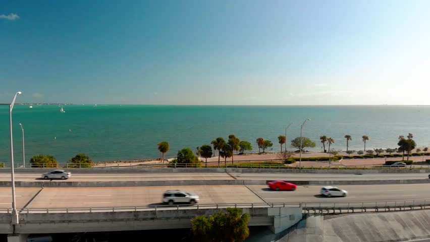 Drone Panning William M. Powel Bridge Miami