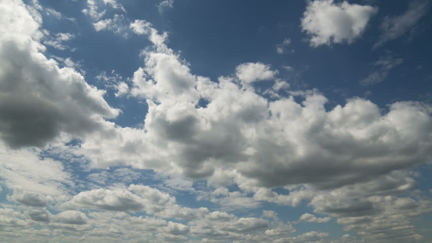 The clouds are moving in the blue sky. | Shutterstock HD Video #1013509667