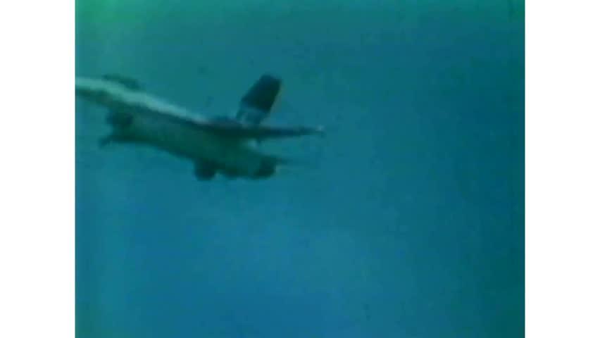 CIRCA 1977 - F-16s maneuver in the air.