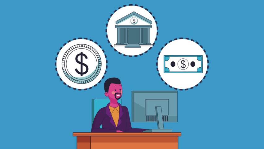 Executive businessman cartoon HD animation   Shutterstock HD Video #1013564147