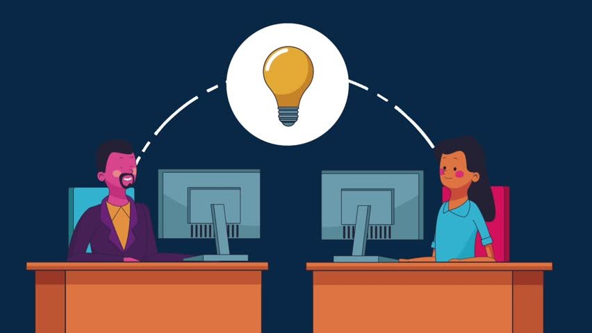 Business teamwork concept HD animation