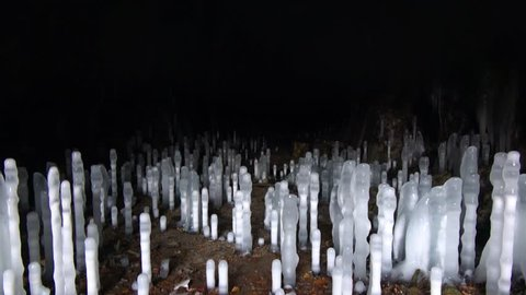 Abandoned Cave / Tunnel with Stalagmites and Icicles