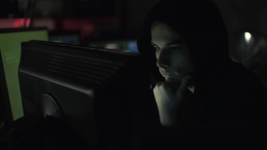 Black hat hacking a computer network, accessing data and stealing private information, cyber security and malware concept | Shutterstock HD Video #1013580527