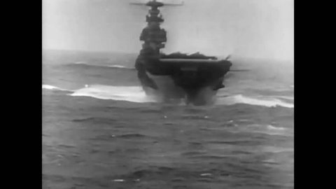 CIRCA 1942 - Colonel Doolittle commands a task force on an aircraft carrier bound for Tokyo (narrated in 1953).