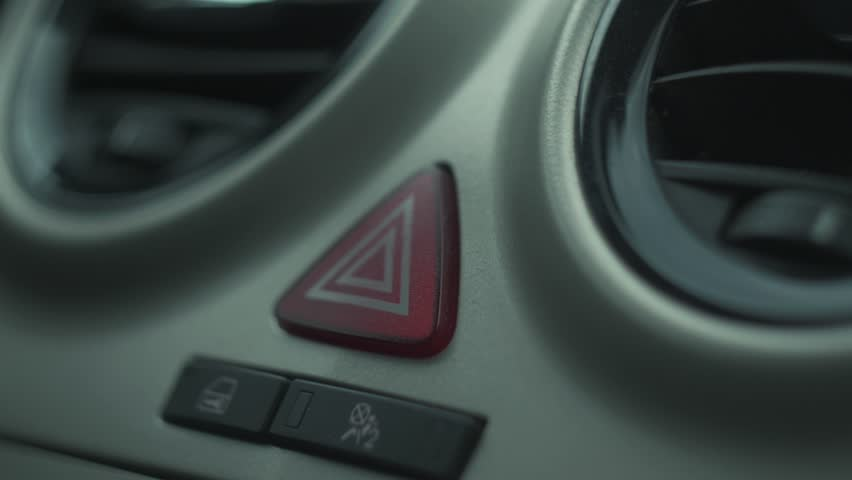 The panic alarm button is blinking inside a car | Shutterstock HD Video #1013699327