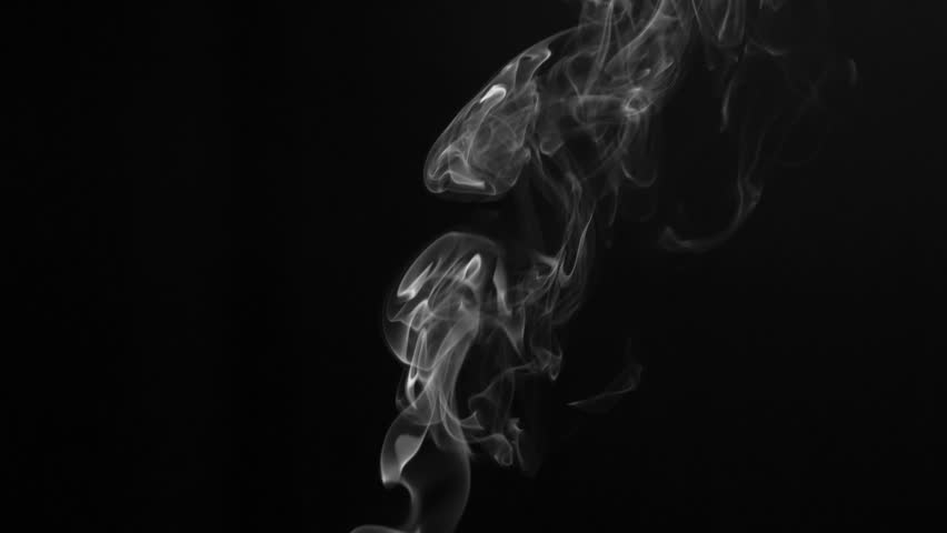 Slow Twilight Twists of White Smoke. White clearly expressed smoke slowly rises from the bottom of the screen and forms elegant twists on a black background. Filmed at a speed of 120fps | Shutterstock HD Video #1013811287