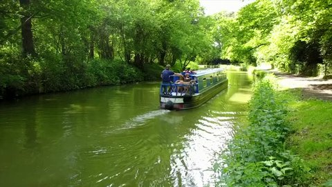 Canal boat in Wiltshire, UK