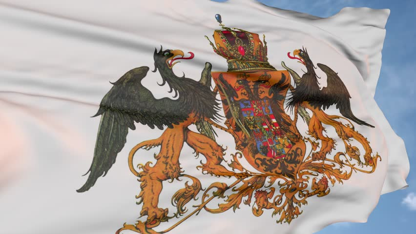 Eagle is the flag of Austria Hungary of the past. state symbol logo