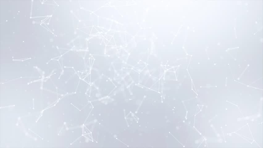 Clean White Abstract polygonal Digital Concept Geometrical Polygon Plexus Fractals Moving low poly Technologies Minimalist design element Seamless loop background for corporate business presentation | Shutterstock HD Video #1013908607