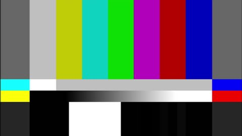 TV VIDEO TEST COLOR BARS AND TEST TONE 5 SECONDS