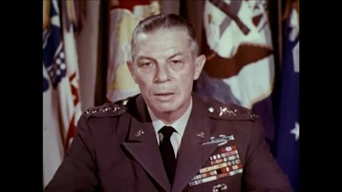 CIRCA 1960s - General Paul Adams explains the need for a United States Strike Command in the 1960s.