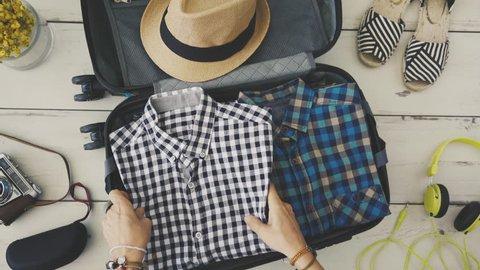 Preparing suitcase concept