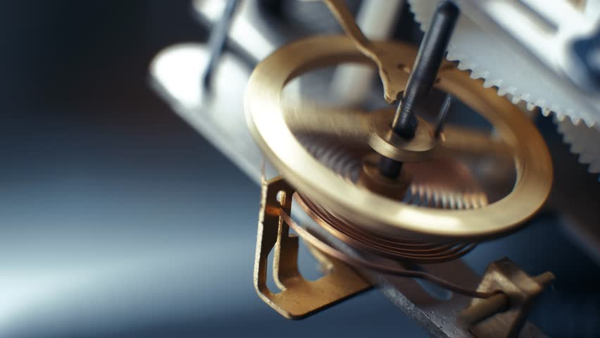 Rotating gears mechanical watches. Pendulum clock. 4K