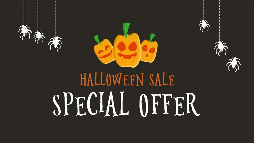 Good Halloween Sale Special Offer Footage Background