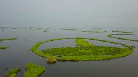 Ariel view of Loktak Lake Manipur