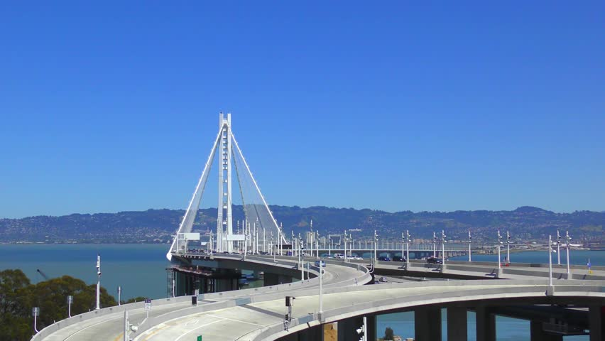 The Bay Bridge in San Francisco, California, USA | Shutterstock HD Video #1014220817