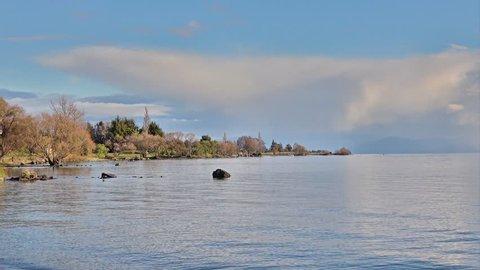 Beautiful scenery of Lake Taupo