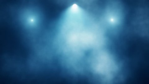 Blue Stage Lights and Smoke VJ Loop Motion Background