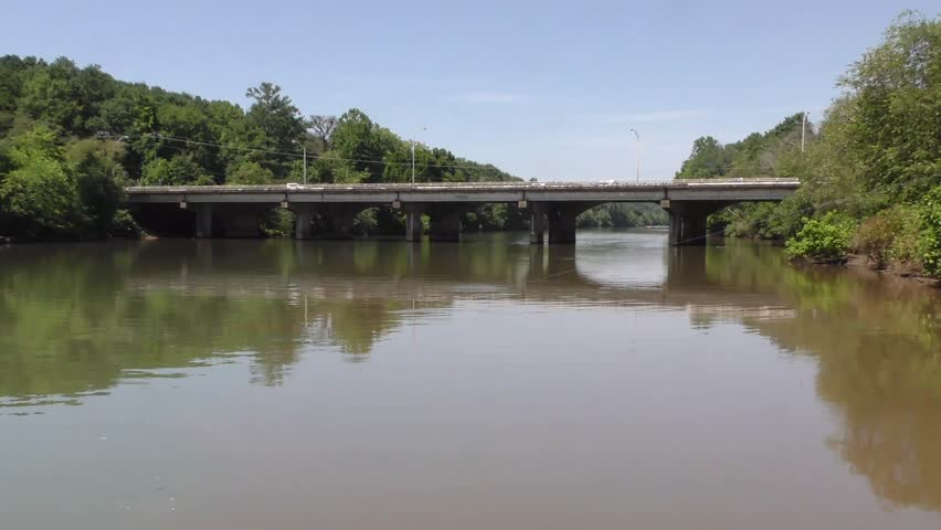 Georgia, located at Riverside Park, This is a view of Roswell Road bridge crossing the Chattahoochee River.