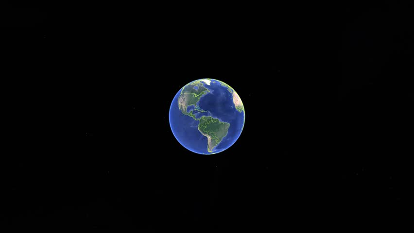 Ghana with flag. 3d earth in space - zoom in Ghana outer, created using ultra high res NASA